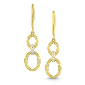 KC Designs 14k Gold and Diamond Double Oval Earrigns