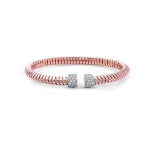 Tubogas Rose Gold Diamond Bangle