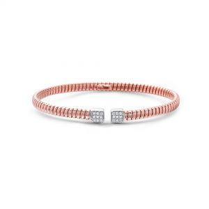 Petite Tubogas Diamond Rose Gold Bangle