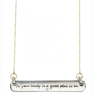 BEATRIX OST IN YOUR BODY DIAMOND NECKLACE - 14K Yellow Gold Article22