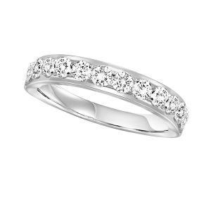 14K White Gold Channel Set Diamond Enternity Ring