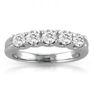 Five Diamond Anniversary Ring, 0.5cttw