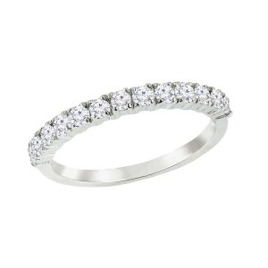 14K Half Eternity Diamond Band, 0.5cttw