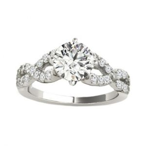 Open Twist Diamond Ring Setting, 0.5cttw