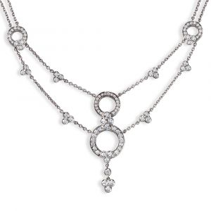 Platinum And Diamond Necklace N263P