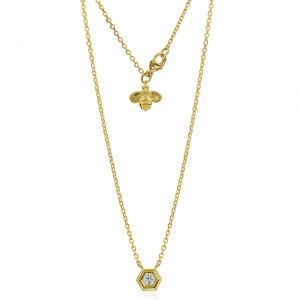 Honeybee B Solitaire Necklace