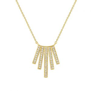 KC Designs 14k Gold and Diamond Multi Bar Necklace