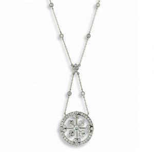 Platinum And Diamond Necklace N7455P