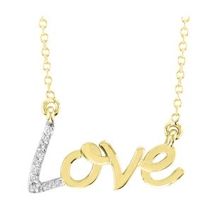 "14K ""Love"" Diamond Necklace"