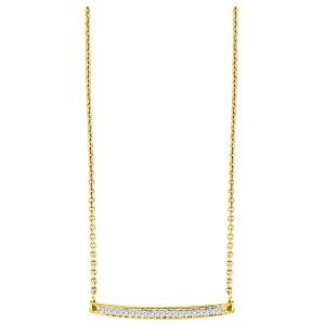 KGM Trendy bar necklace 14k