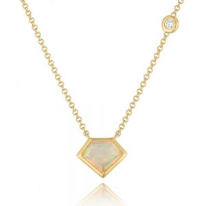 18K Metropolis Super Mini Flying Opal Diamond Necklace