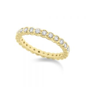 14k Gold and Diamond Stack Ring