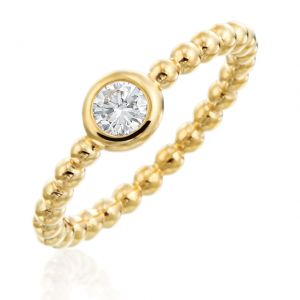 Nutmeg Stackable Round Ring