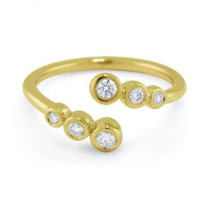 KC Designs 14k Gold and Diamond Bubble Bypass Ring