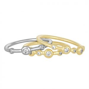 18K Elements Diamond Mariel Stack Ring Trio