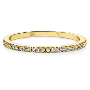 Slim & Slender Yellow Gold Diamond Stack Ring