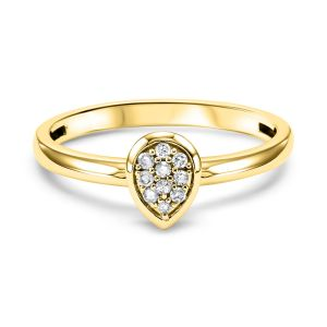 Gemsone Yellow Gold Diamond Stackable Ring  - RG10059
