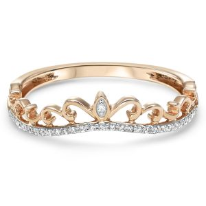 14K Rose Gold Diamond Ring Wrap