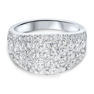 14K Diamond Encrusted Wide Anniversary Band