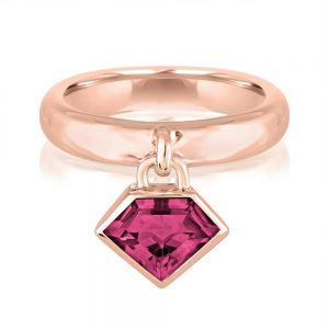 14K Metropolis Rhodolite Power Charm Ring