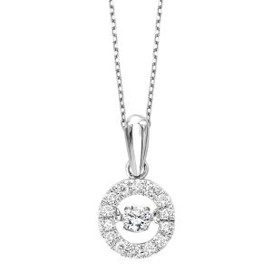 10K Circle Rhythm Of Love Diamond Pendant