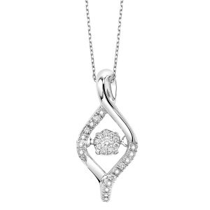 Sterling Silver Diamond Rhythm Of Love Pendant