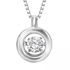 Genuine White Topaz Pendant