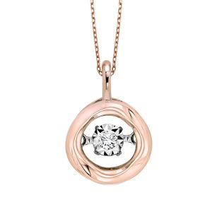 14k Rose Gold Diamond Rhythm Of Love Pendant