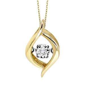 10K Yellow Gold Diamond Rhythm Of Love Pendant