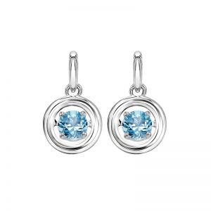 Sterling Silver Rhythm of Love Genuine Blue Topaz Earrings