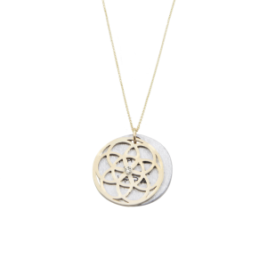 SEED OF LIFE Necklace 1.9cm 14K with Diamond