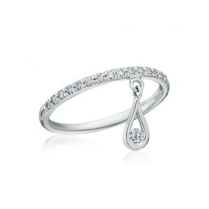 Single Diamond Drop Ring