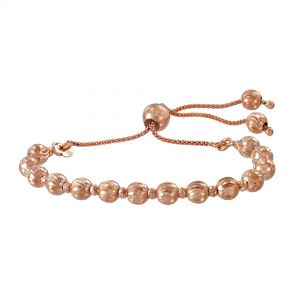 Rose Gold Beaded Bolo Bracelet