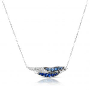 Wave Horizontal Pendant Necklace