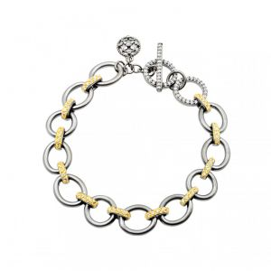 Signature Chunky Mixed Metal Link Bracelet