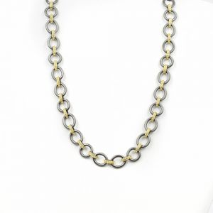 Signature Two-Tone Heavy Link Necklace YRZ070342B-18-1