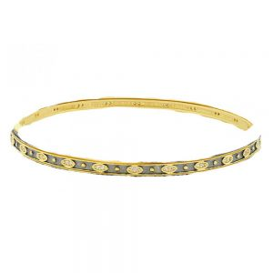 Signature Single Slide Bangle, Gold & Black