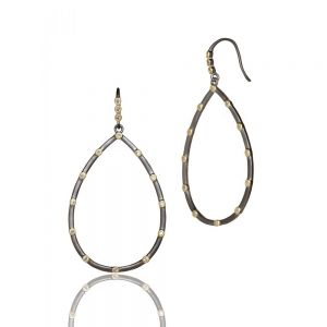 Signature Everyday Bezel Teardrop Earrings